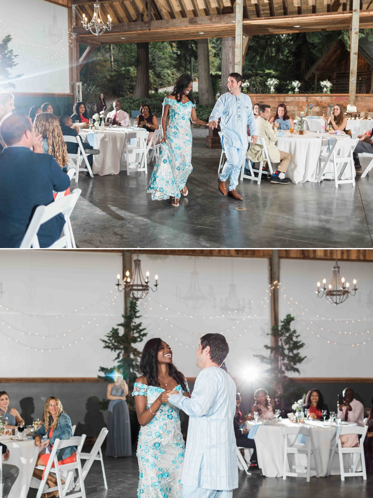 First dance at Green Gates at Flowing Lake. Photographs by Joanna Monger Photography, Award Winning Snohomish Wedding Photographer.