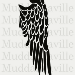 angel wing stencil