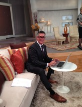 On the set at QVC