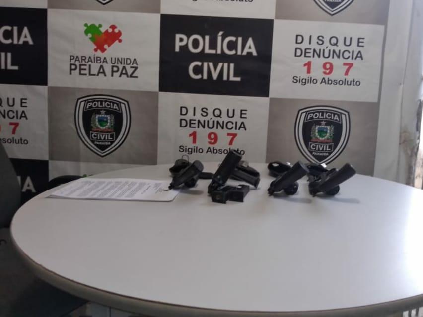 DRF de Sousa aprende várias armas na tarde desta segunda-feira