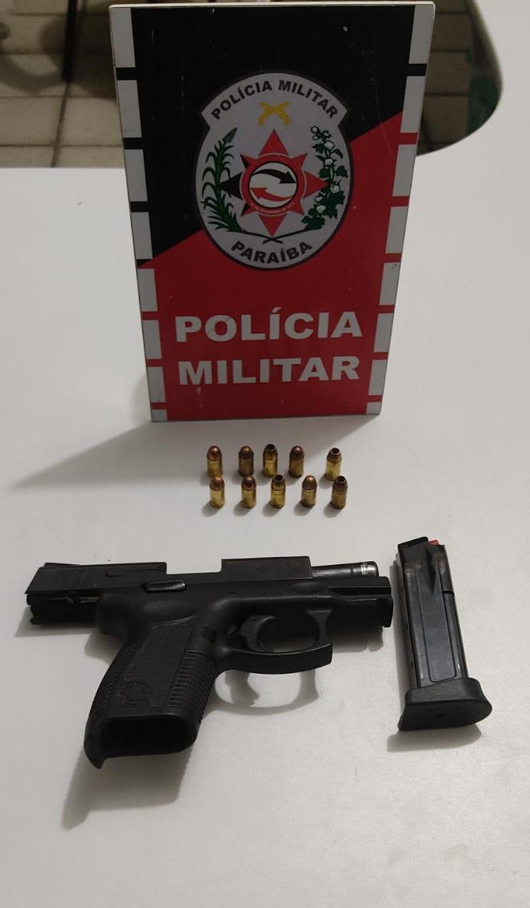 POLÍCIA MILITAR PRENDE HOMEM POR PORTE ILEGAL DE ARMA DE FOGO EM SÃO BENTO