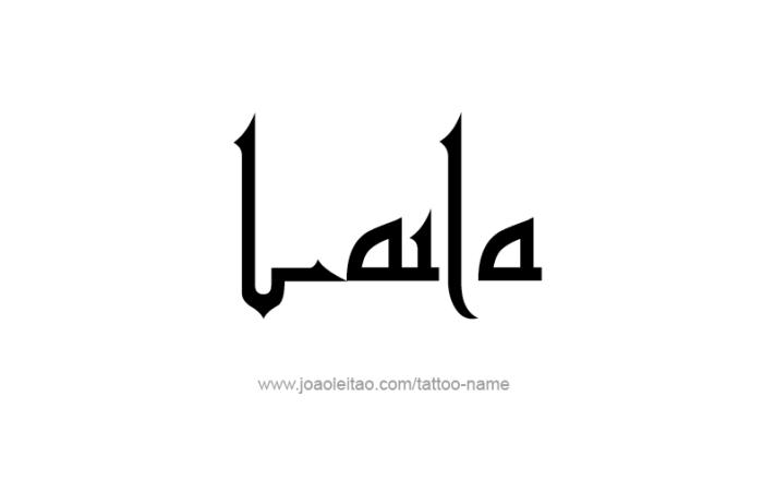 Tattoo Design Name Laila