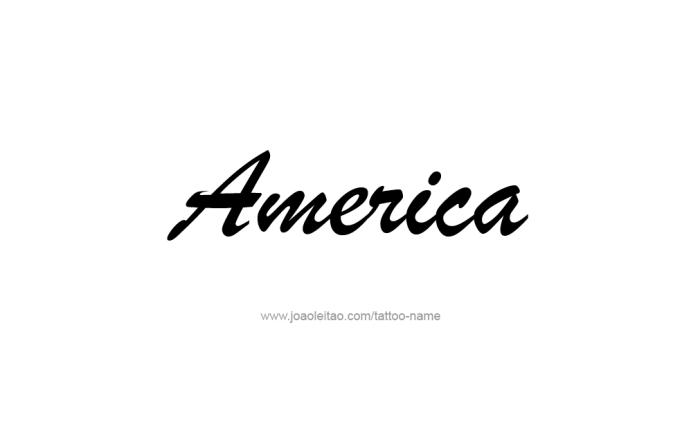 Tattoo Design  Name America