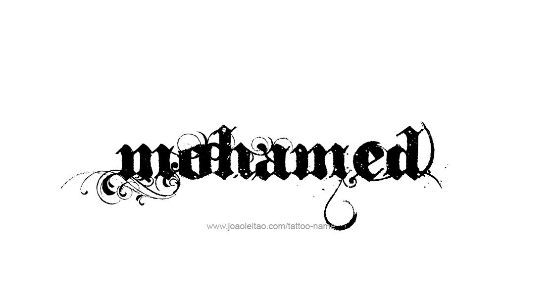 Mohamed Name Tattoo Designs