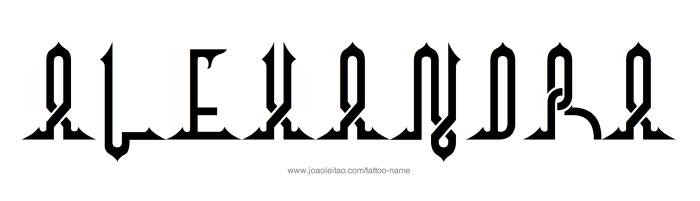 Tattoo Design Name Alexandra