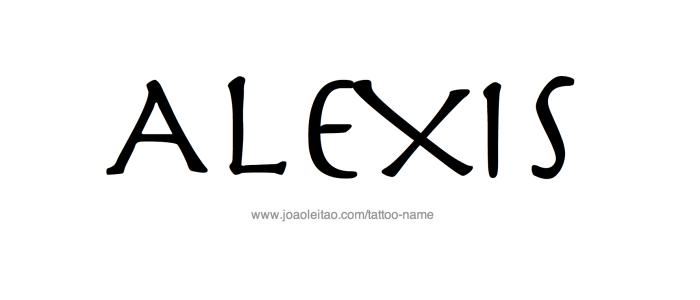 Tattoo Design Name Alexis
