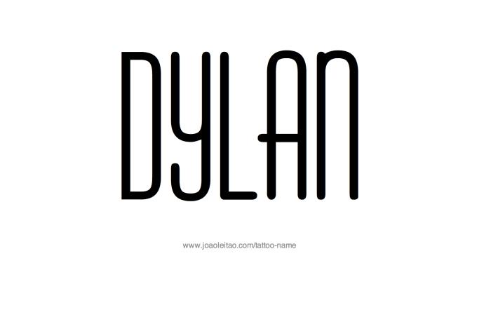 Tattoo Design Name Dylan