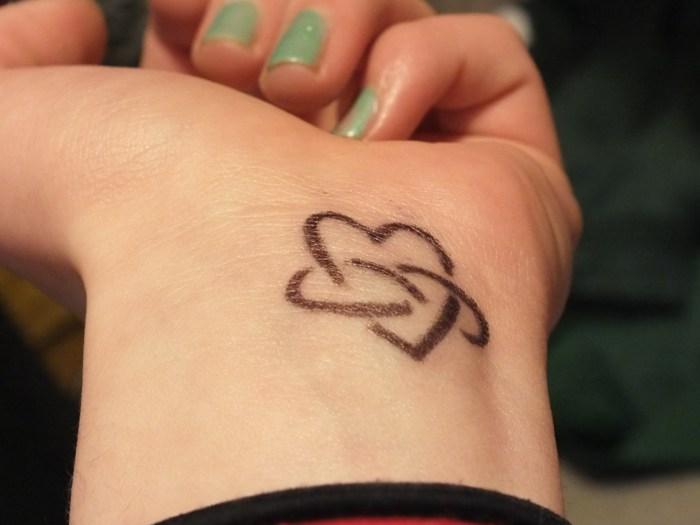 Female Wrist Tattoo - Inner Wrist Tattoo Design with Heart