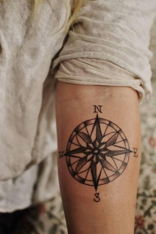 man arm tattoo ideas compas
