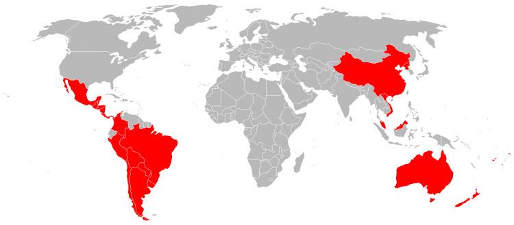 Mapa de Viagens em 2014