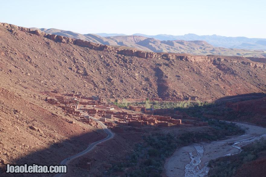 Aldeia de Timsal na região de Ouarzazate
