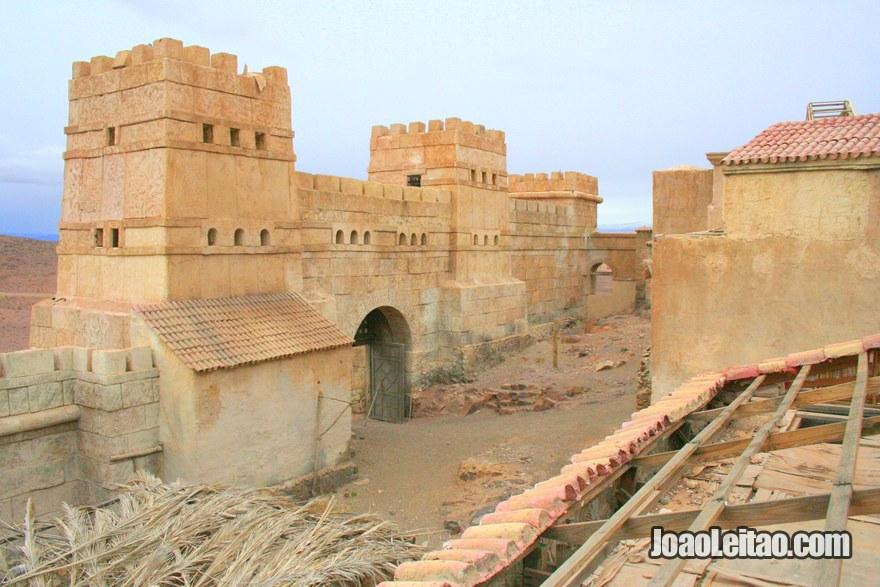 Cenario do filme Die Papstin filmado em 2009 em Ouarzazate