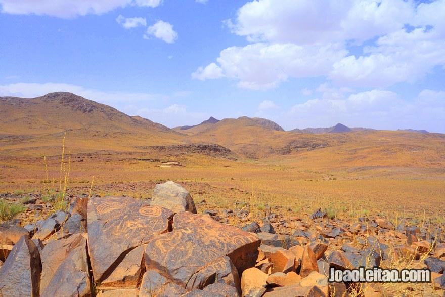 Gravuras rupestres do Jbel Adad, região de Ouarzazate