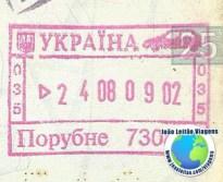 Stamp Ukraine (pink/car)