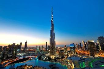 Vista do Dubai nos EAU