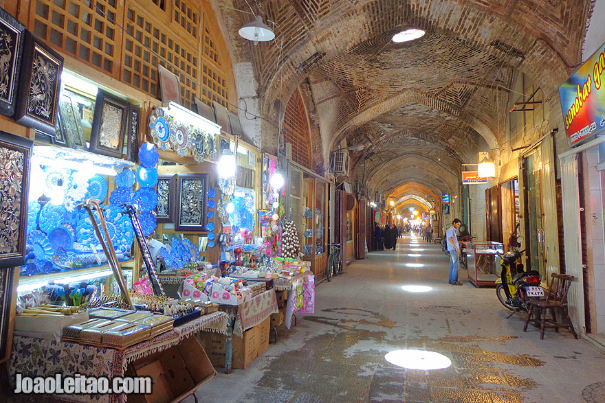 Bazar Ali Qapu em Isfahan