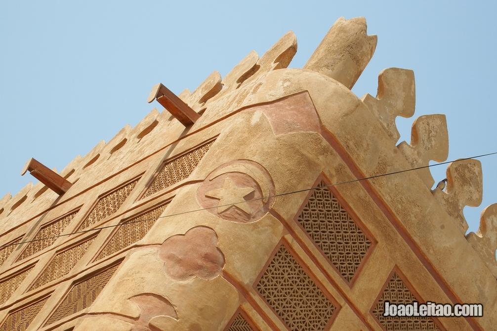 Pormenor da casa da família Siyadi na Ilha de Al Muharraq, no Barém