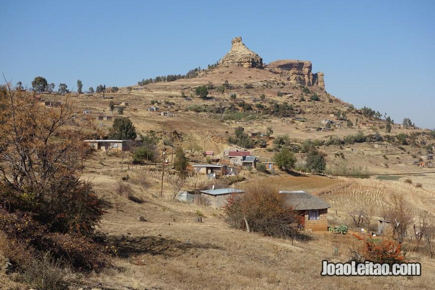 Fotografia do Lesoto na África Austral