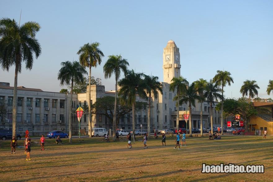 Assistir a um jogo (partida) de rugby no Albert Park na cidade de Suva