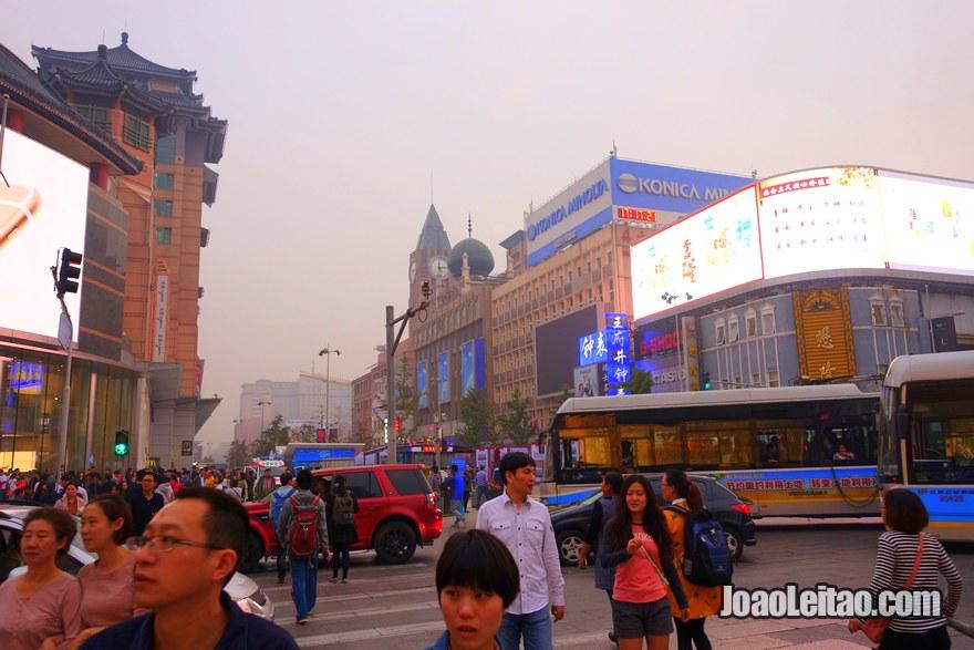 Ruas movimentadas de Pequim