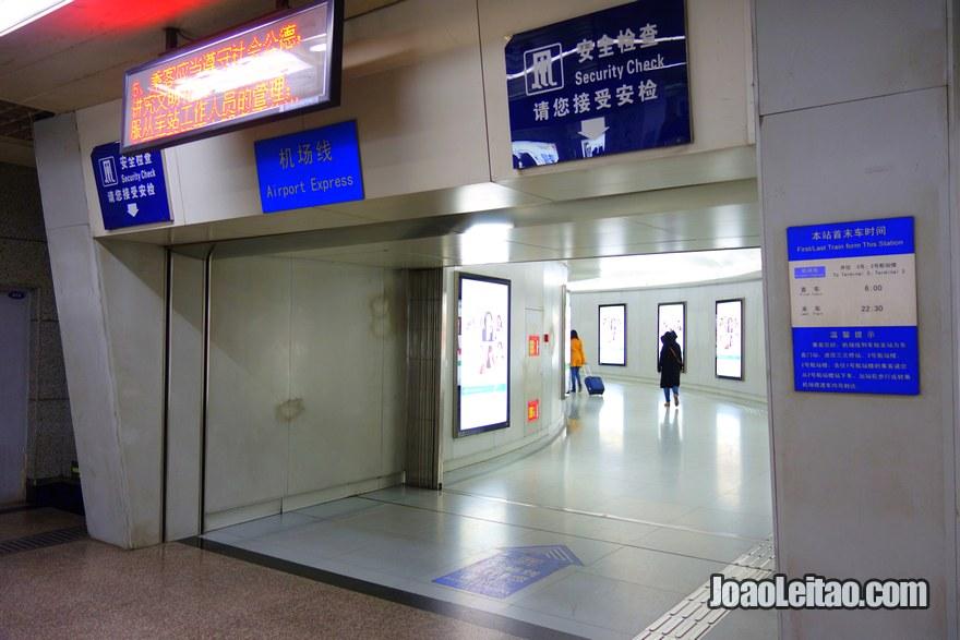Passo 5 - entrar no corredor oficial do Airport Express