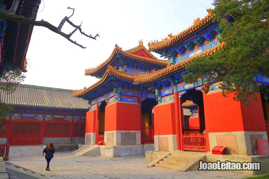 Foto do Templo de Confúcio em Pequim