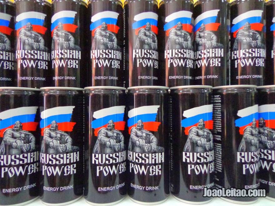 Bebida energética chamada de Russian Power