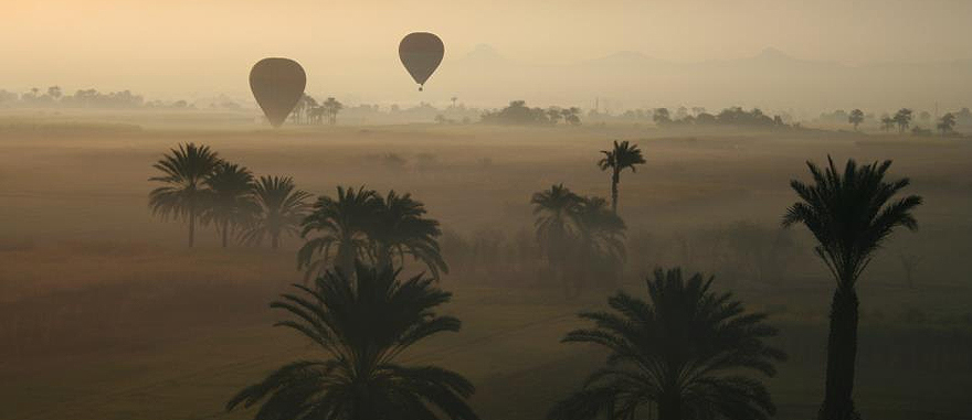 Hot air balloon ride in the Valley of the Kings, Egypt