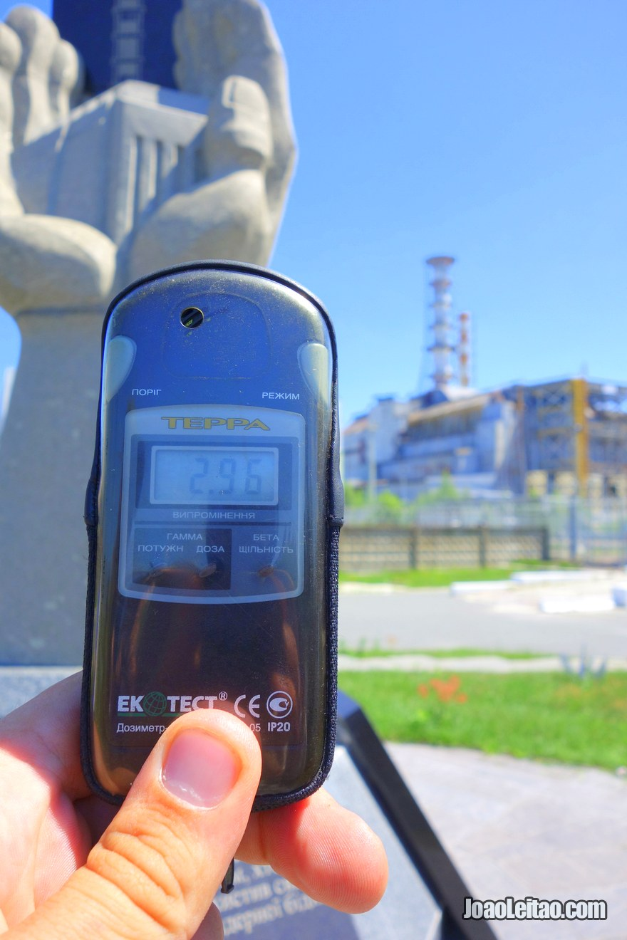 Chernobyl Reactor 4 Radiation measurement with a Geiger counter