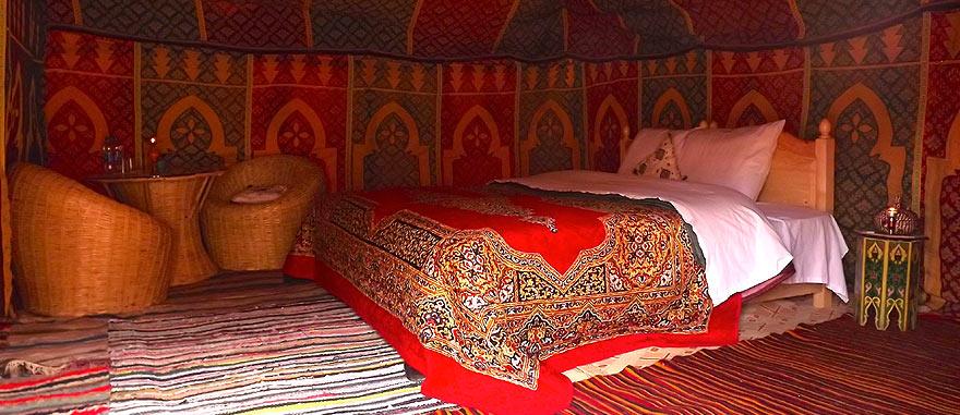 Oasis room inside tent - Mind-blowing Sahara Desert Hotel