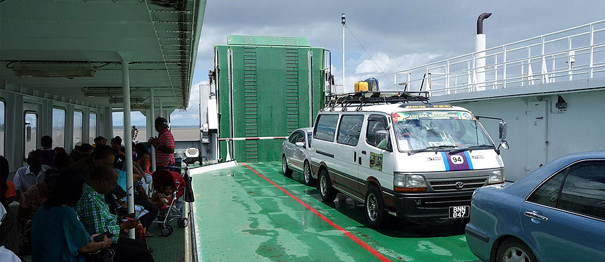 Ferry boat Guyana to Suriname