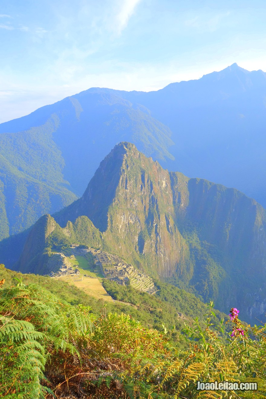 View of the Historic Sanctuary of Machu Picchu from above - Travel Peru