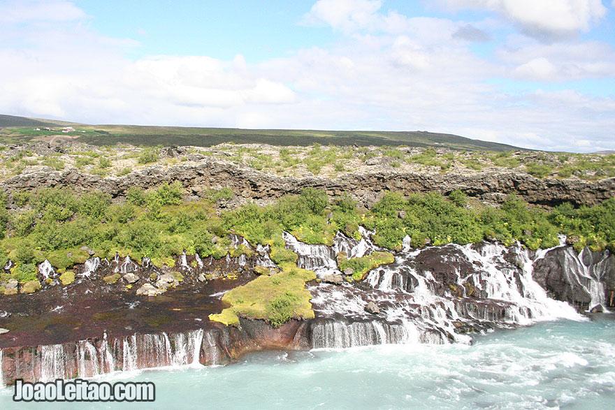 Barnafossar Waterfall in Skjalfandafljot River