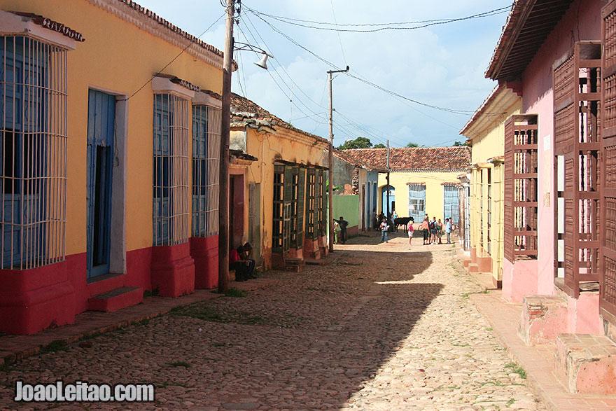 Beautiful street scene in the historical city of Trindad
