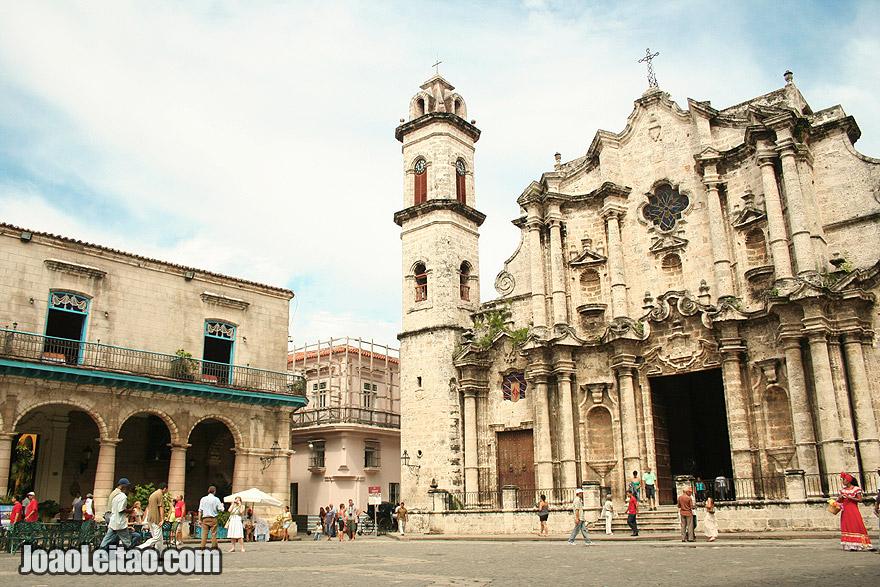 Havana Cathedral in Plaza De Armas