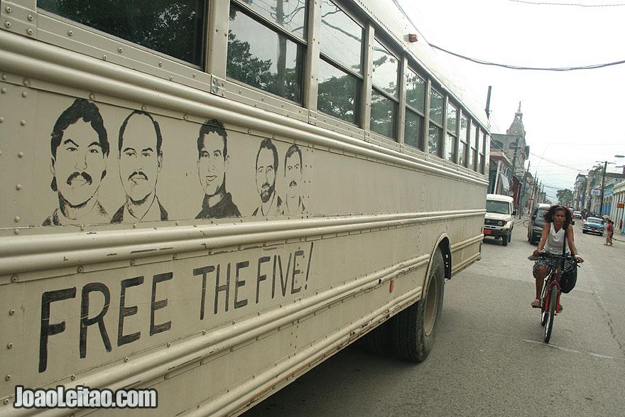 Free the Five school bus in Guantanamo city