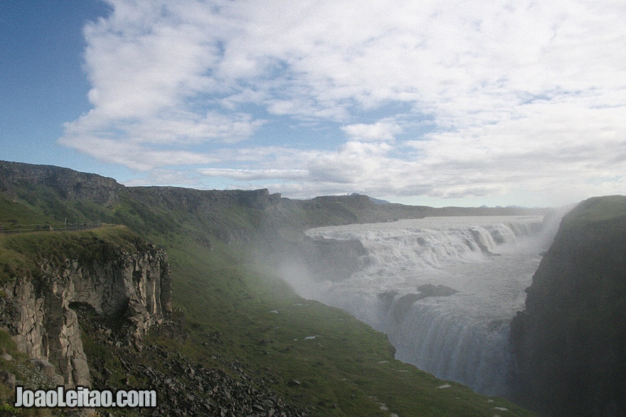 Visit the impressive Gullfoss - Iceland's most famous waterfall