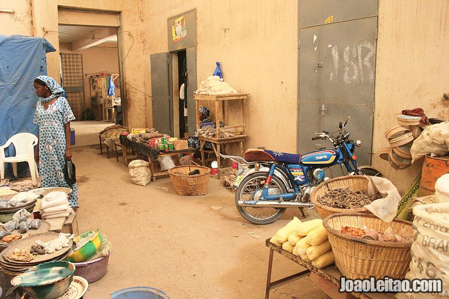 Timbuktu central market corridor