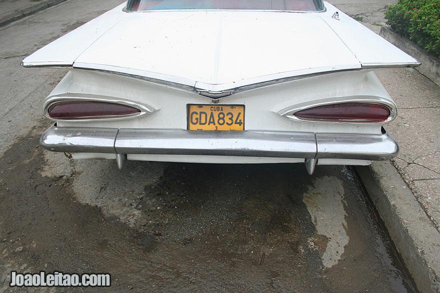 White American car