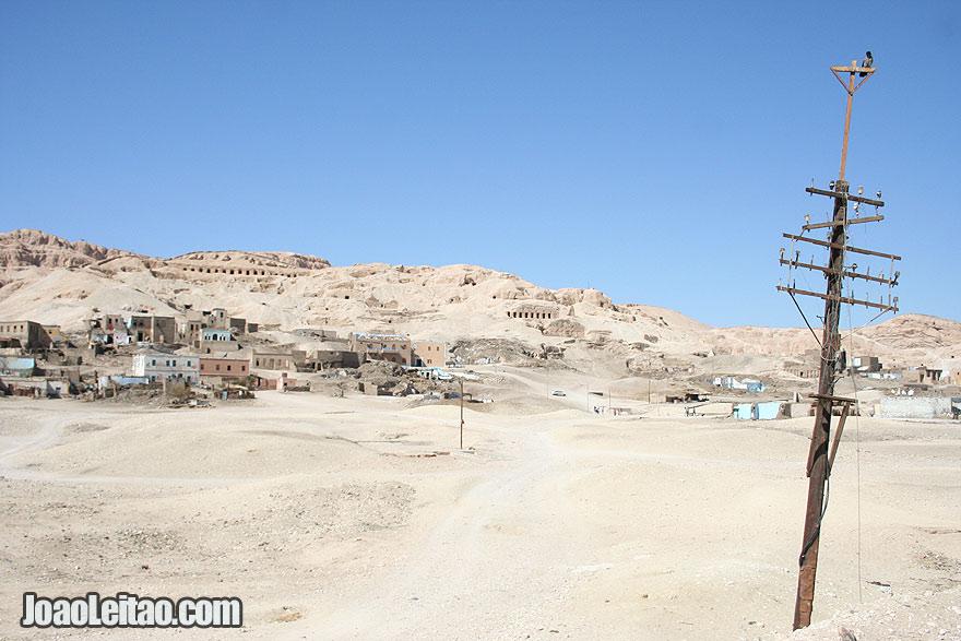Deir Bahri tombs in Luxor's West Bank