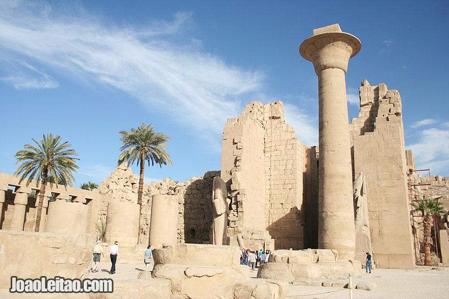 4000-year-old Karnak Temple dedicated to Amun, Khonsu and Mut