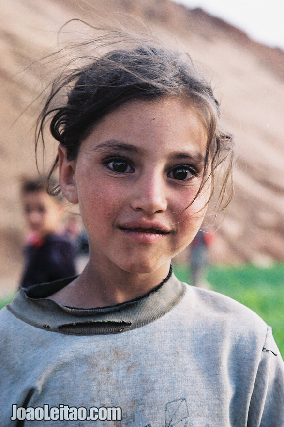 Photo of young girl in the Atlas Mountains, Morocco