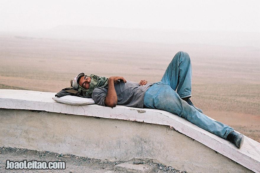 Photo of man sleeping, Morocco