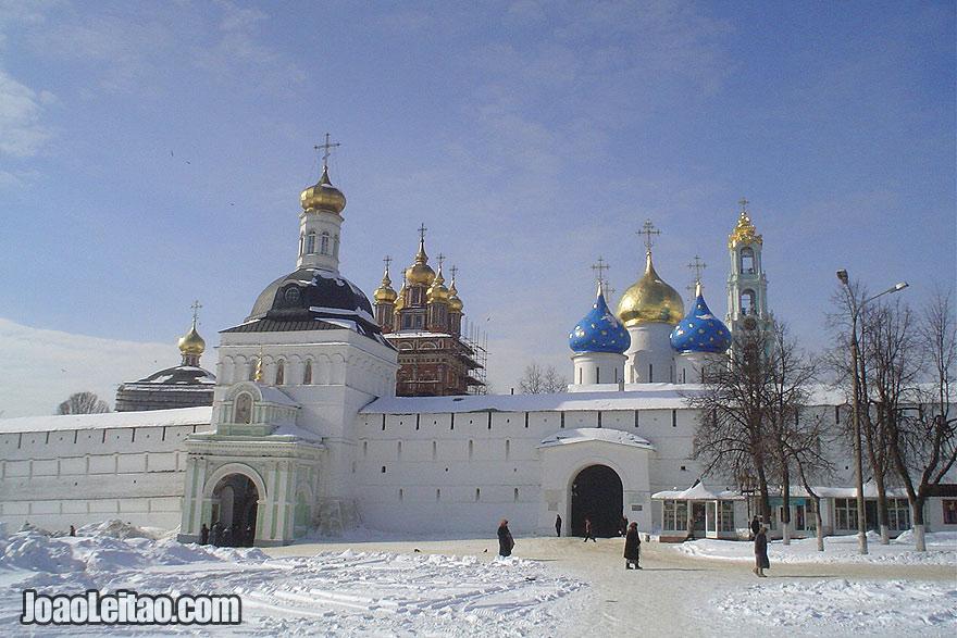 O portão de entrada em Sergiev Posad