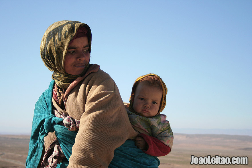 Photo of woman and baby in the Atlas Mountains, Morocco