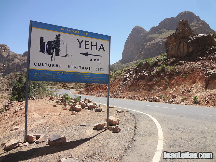 Yeha Cutural Site road sign