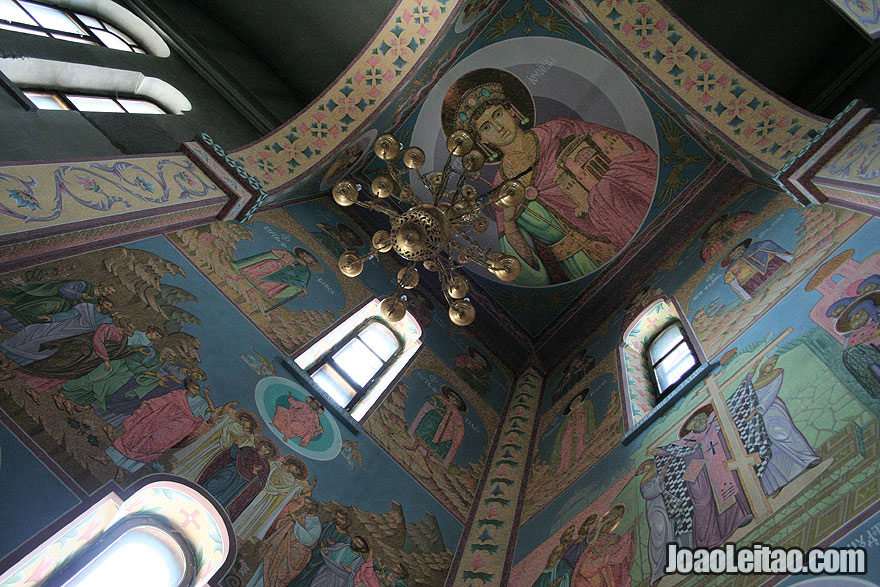 Inside the Cathedral of the Birth of Christ in Tiraspol