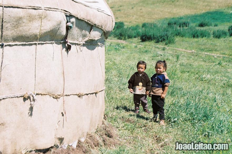 Família nómada Cazaque