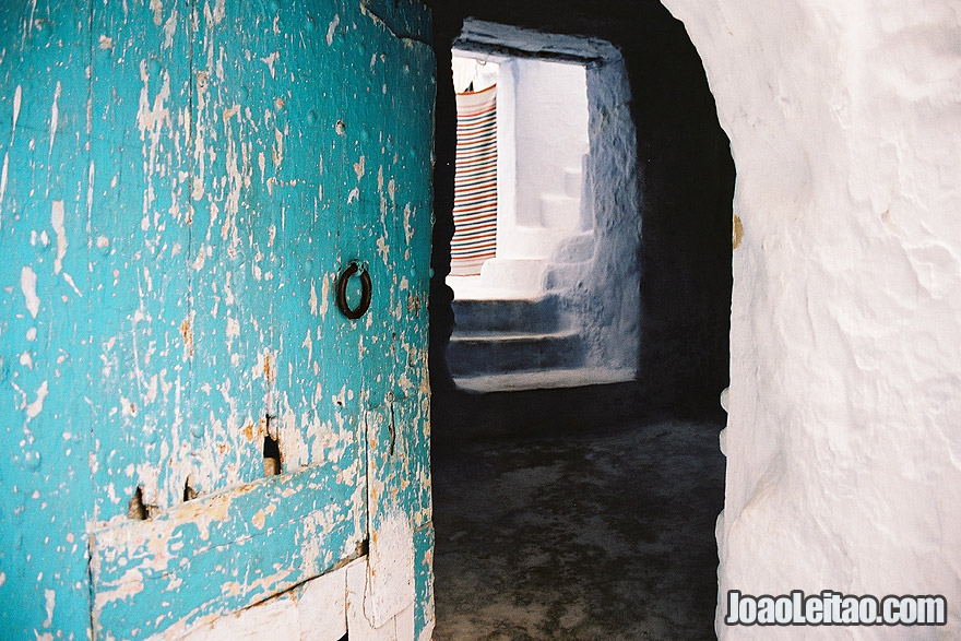 Chefchaouen house with opened door