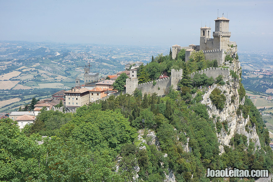 Fortaleza de Guaita em San Marino